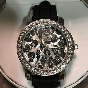 Studio Time Rhinestone Cheetah Watch